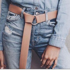 NWT B-LOW THE BELT Tan Vegan Leather Belt